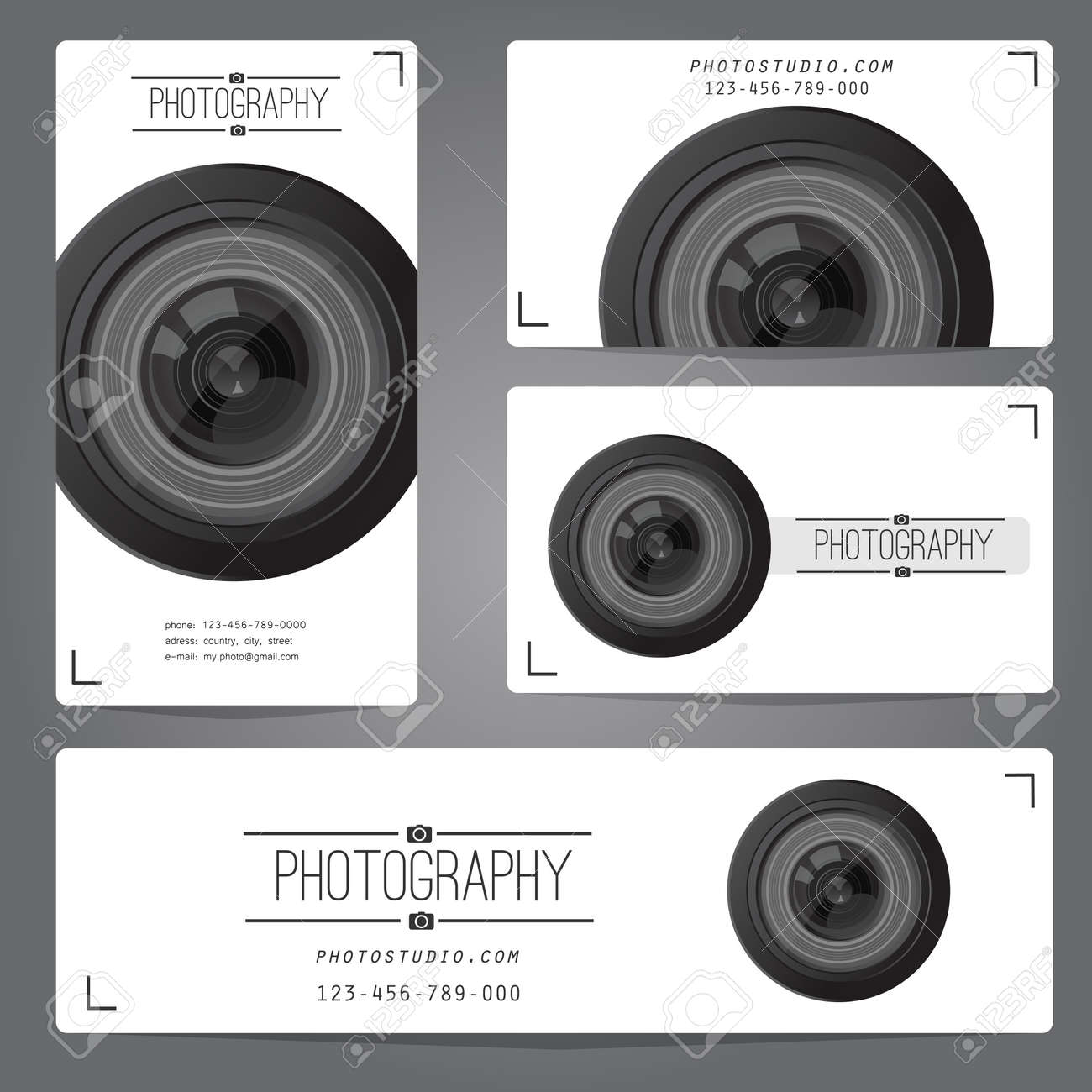 Photo studio logo and business card template. Vector illustration. - 41174479