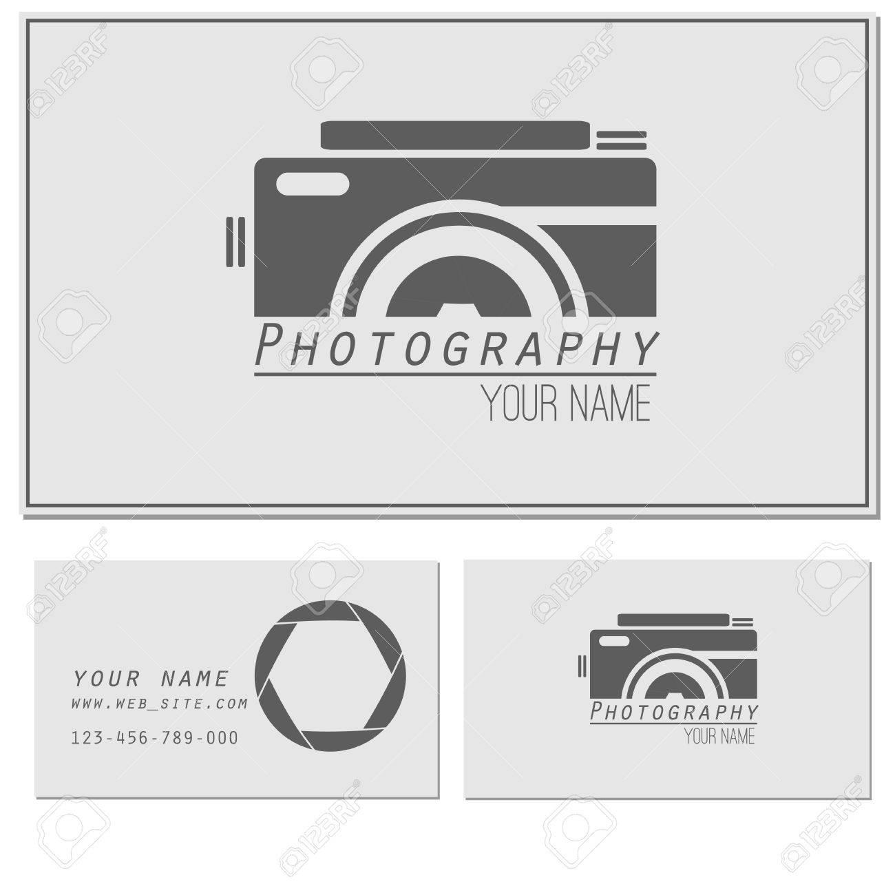 Logotipo De Estudio Fotográfico Y De Plantilla De Tarjeta De Visita ...