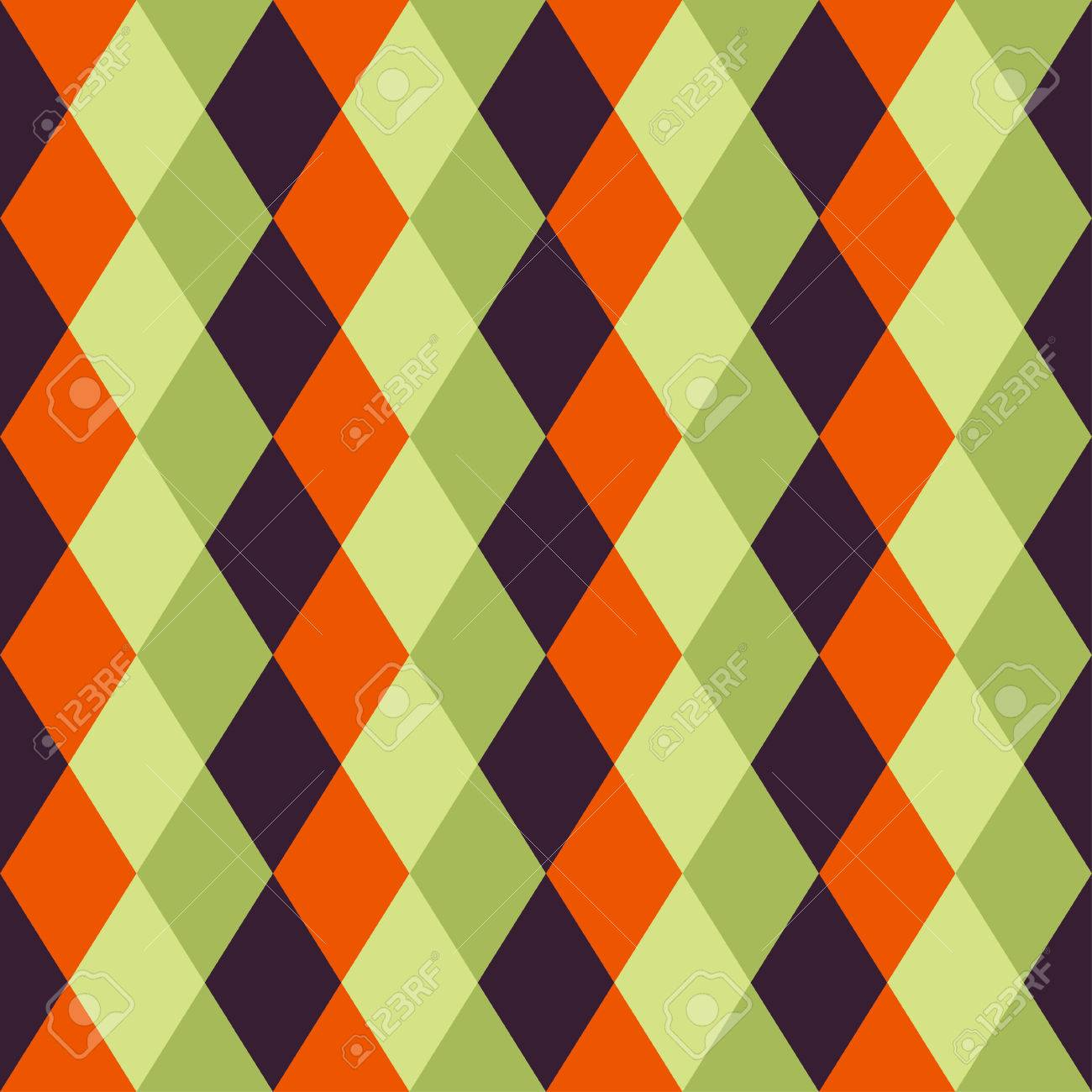 Happy Halloween Background. Seamless pattern. Collection of seamless patterns in the traditional holiday colors. - 44353673