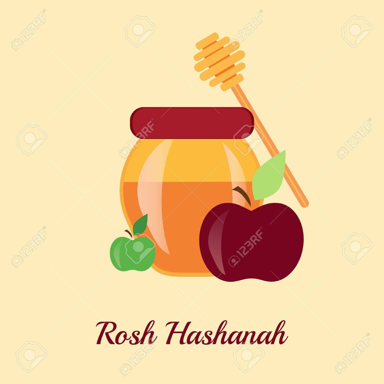 Greeting card design for jewish new year rosh hashanah vector greeting card design for jewish new year rosh hashanah vector illustration stock vector kristyandbryce Choice Image