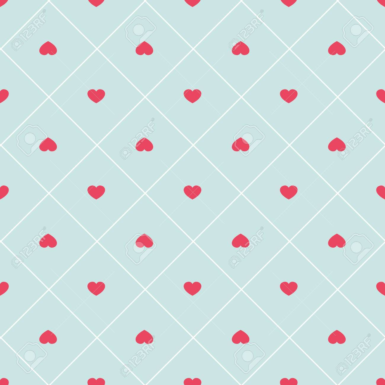 Cute retro abstract heart seamless pattern. - 51311200