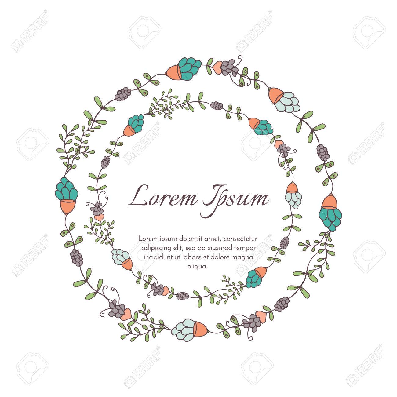 Wedding Floral Template Collection.Wedding Invitation.Flower ...