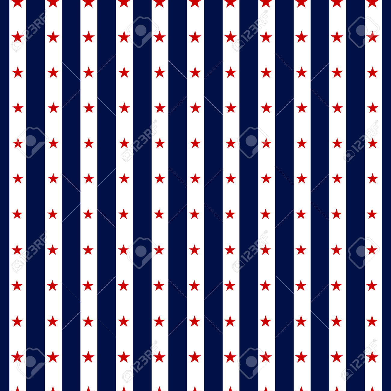 Hapy Independence Day seamless pattern . Memorial day. 4th of July. Set of American backgrounds. Collection of seamless patterns in traditional red, blue and white colors. USA flag vector. - 57799828