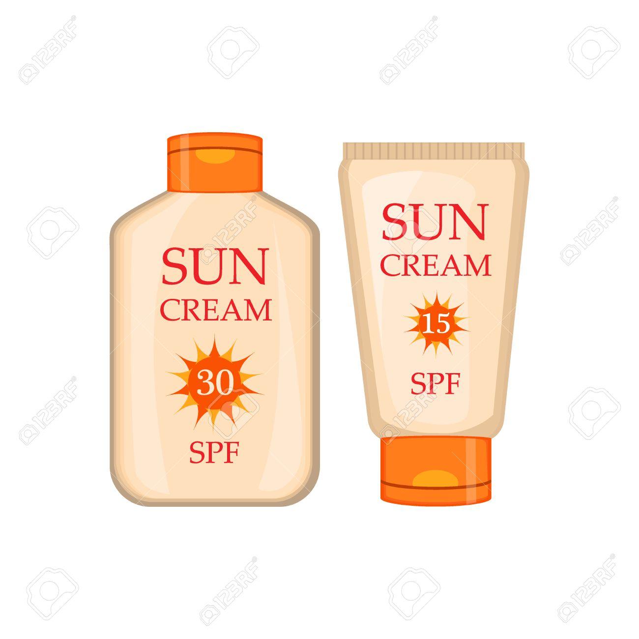 太陽クリーム容器ベクトル イラスト日焼け止め日焼け止めローション