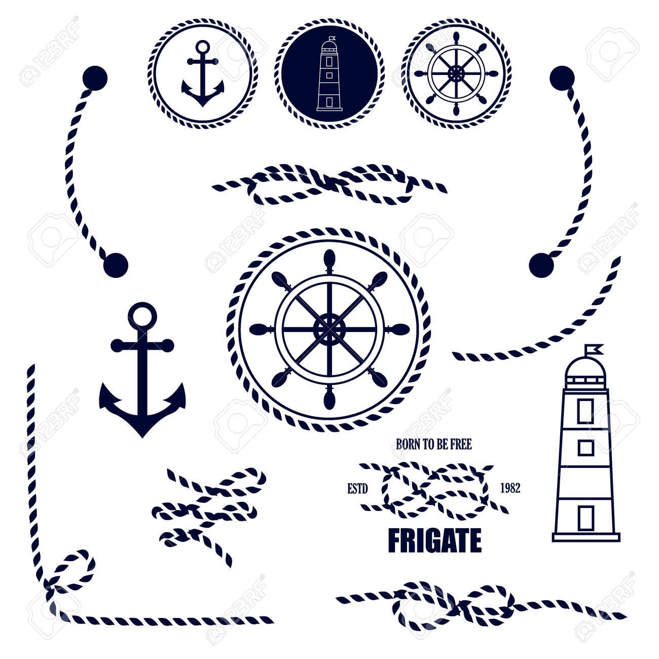 Nautical and marine icons vector sign anchor ocean ship graphic vector sign anchor ocean ship graphic element nautical symbols buycottarizona
