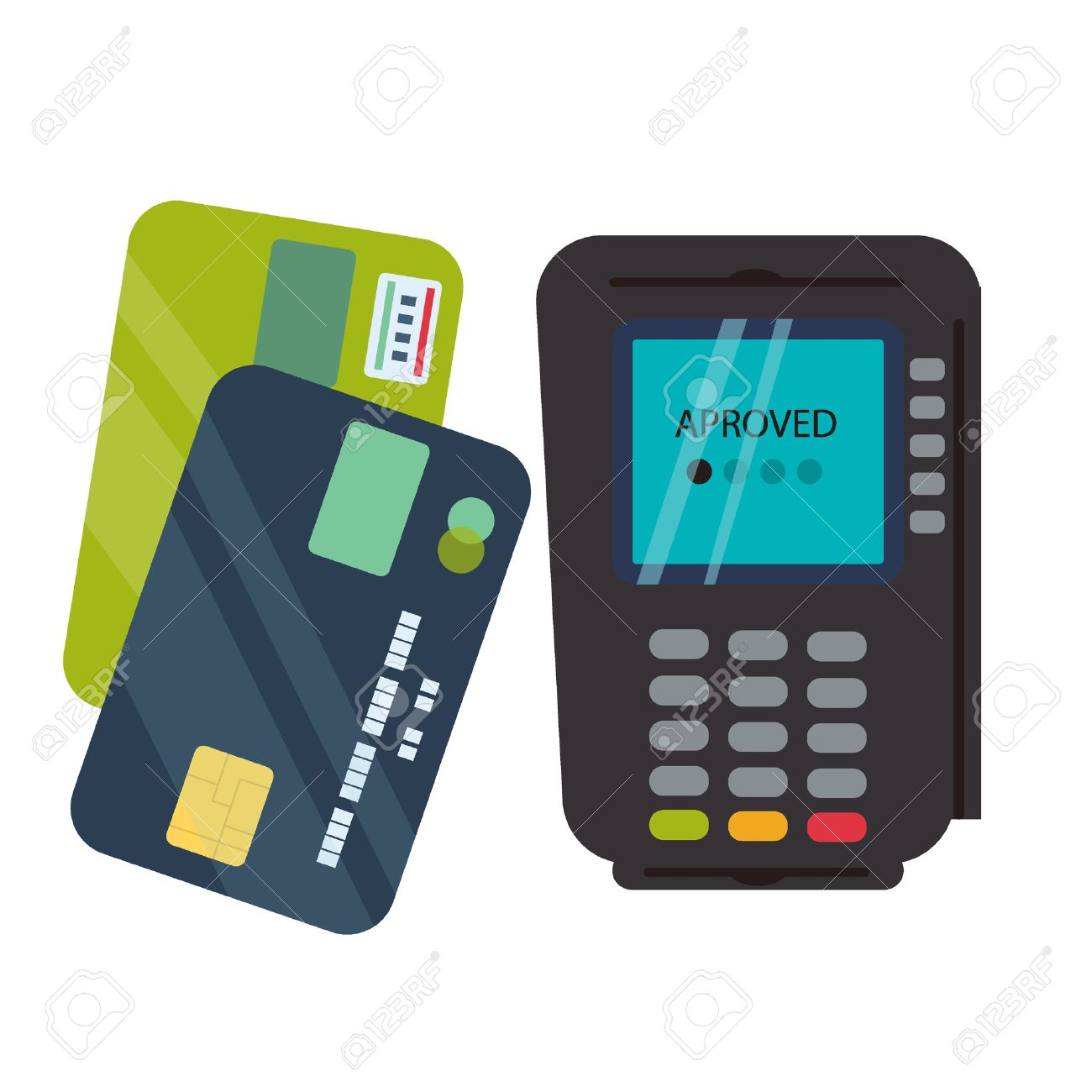 Pos terminal isolated on white background business transaction pos terminal isolated on white background business transaction money payment card pos terminal with reheart Images