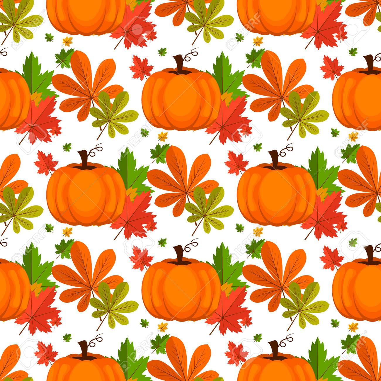 Halloween Seamless Pattern Decoration Wallpaper Art Thanksgiving