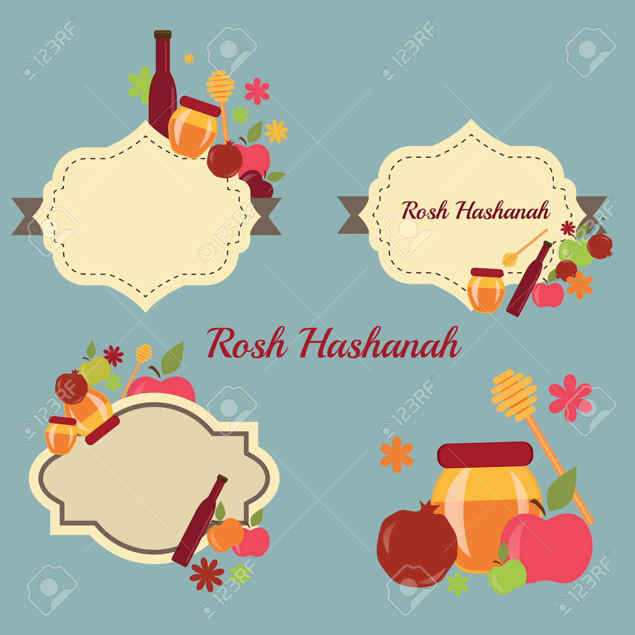 Collection of labels and elements for rosh hashanah rosh hashanah collection of labels and elements for rosh hashanah rosh hashanah vector greeting card design for kristyandbryce Choice Image