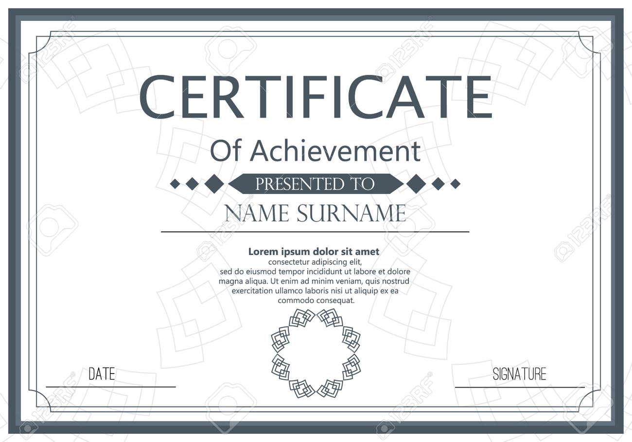Plantilla De Certificado De Vector Vector Premio Graduación ...