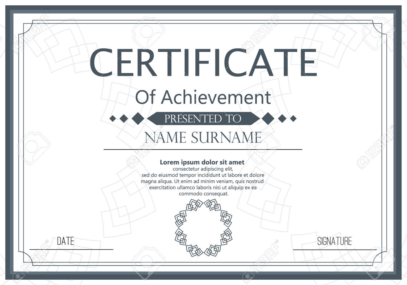 Vector certificate template vector award graduation certificate vector vector certificate template vector award graduation certificate achievement success template border business paper coupon document certificate yadclub Choice Image