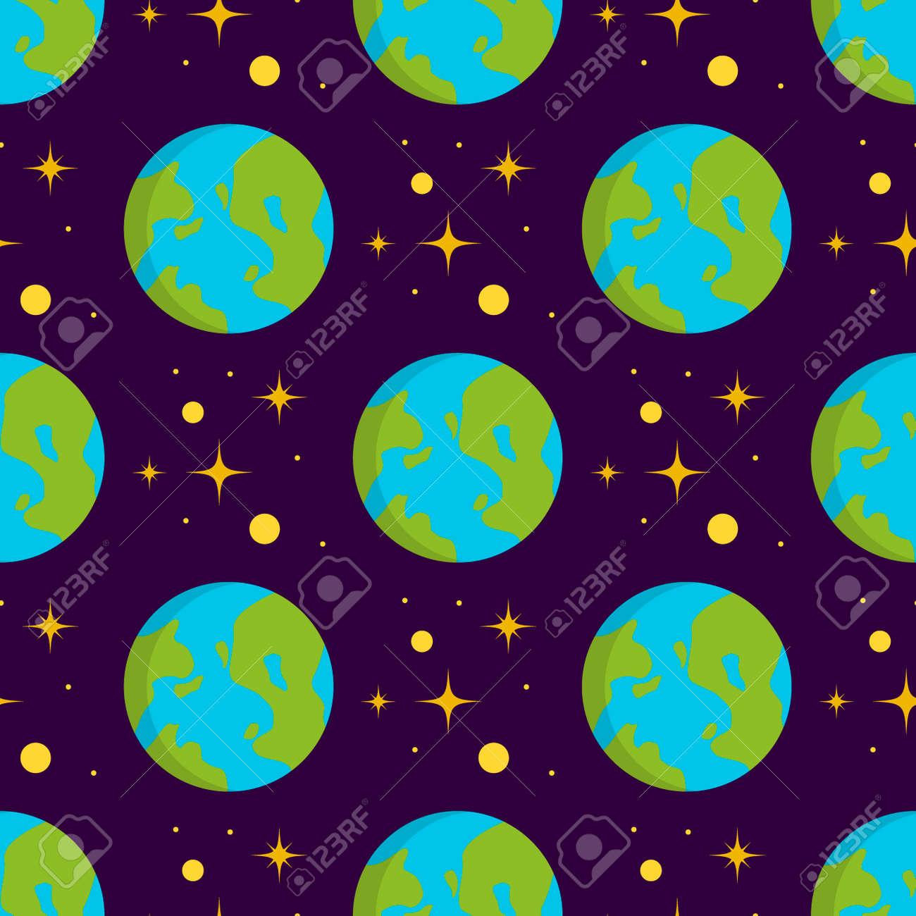 Solaire Systeme Espace Planetes Galaxie Terre Modele Sans Couture