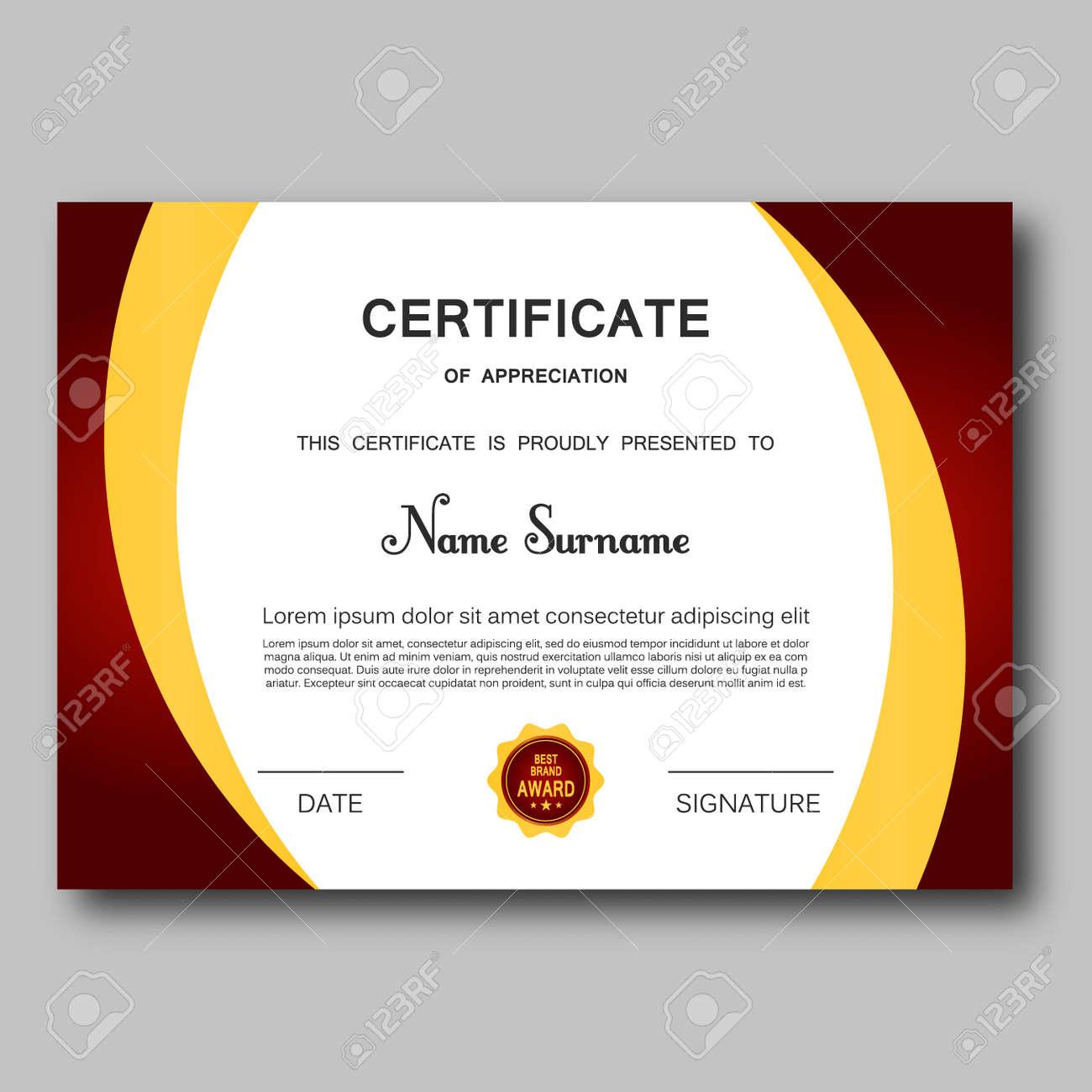 Certificate of appreciation template vector trendy geometric certificate of appreciation template vector trendy geometric design award achievement elegant success diploma business design illustration yadclub Gallery