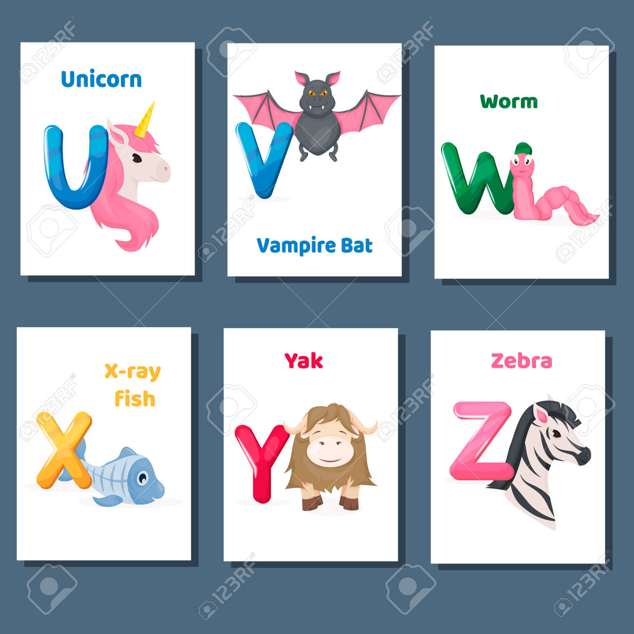 photograph relating to Letter U Printable titled Alphabet printable flashcards vector choice with letter U..