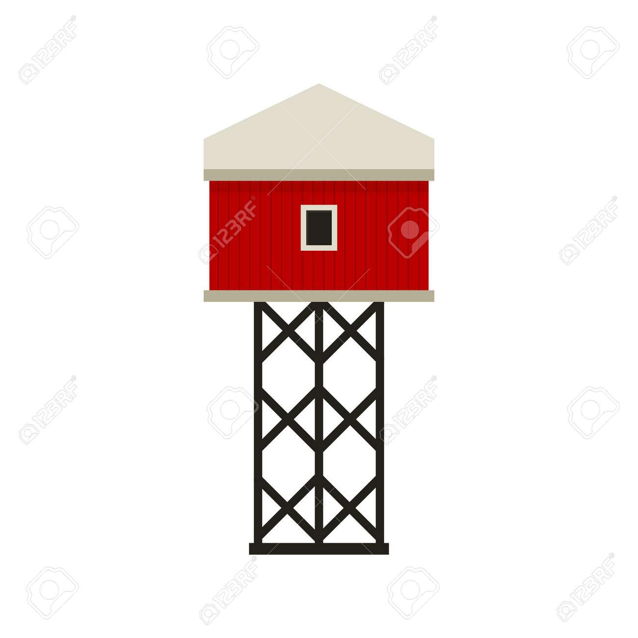 Red barn house Farm. Autumn hay harvest. - 172370095