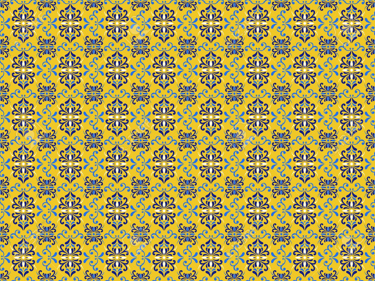 Azulejos Portuguese tile floor pattern - 173114925