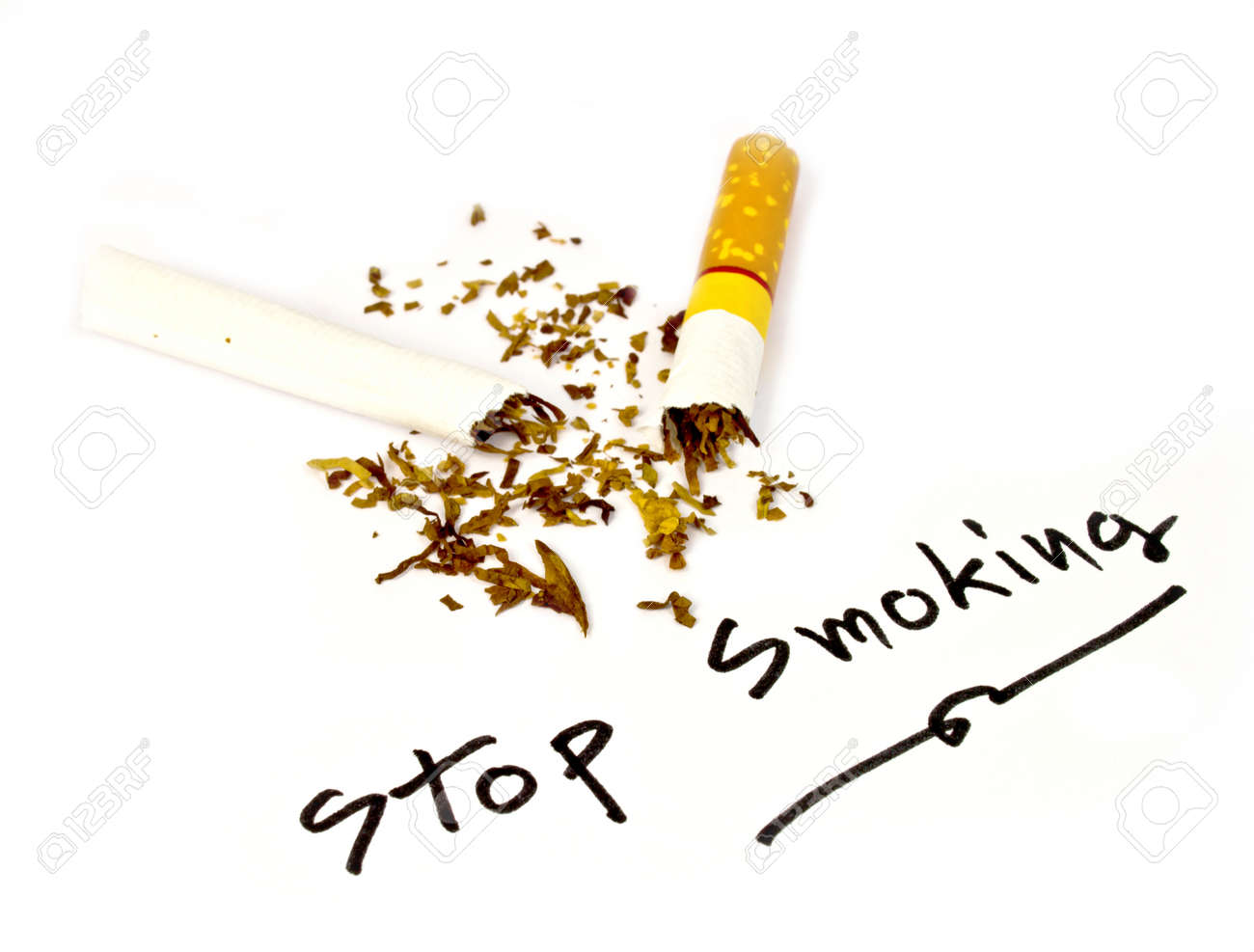 Written stop smoking, please stop smocking, now