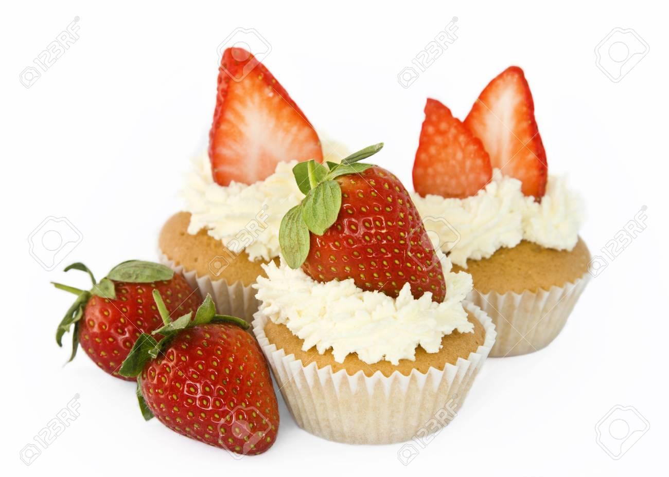 Strawberry cupcakes Stock Photo - 4220631