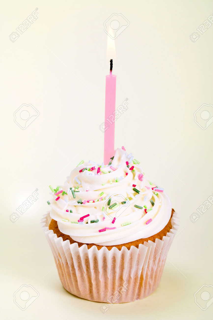 Birthday cupcake Stock Photo - 4430093