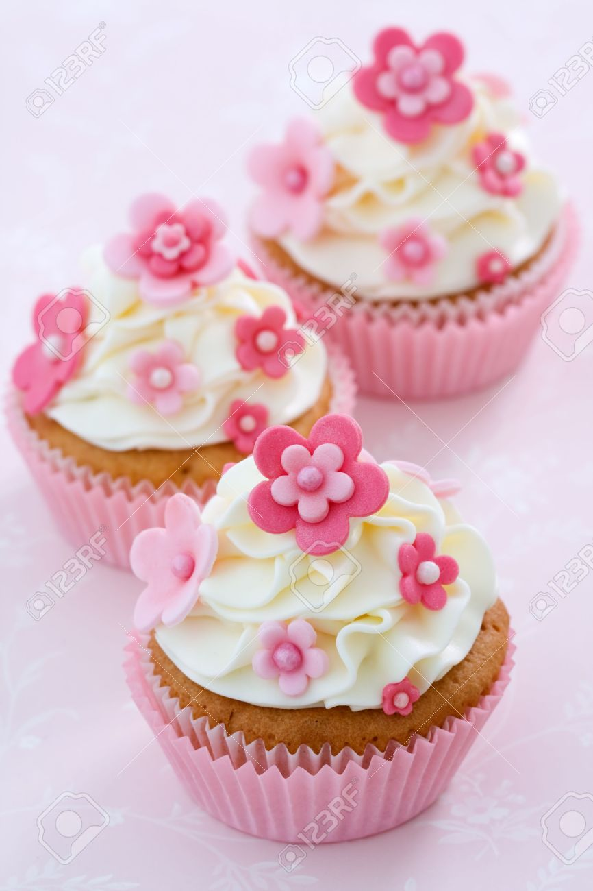 Flower Cupcakes Stock Photo Picture And Royalty Free Image Image