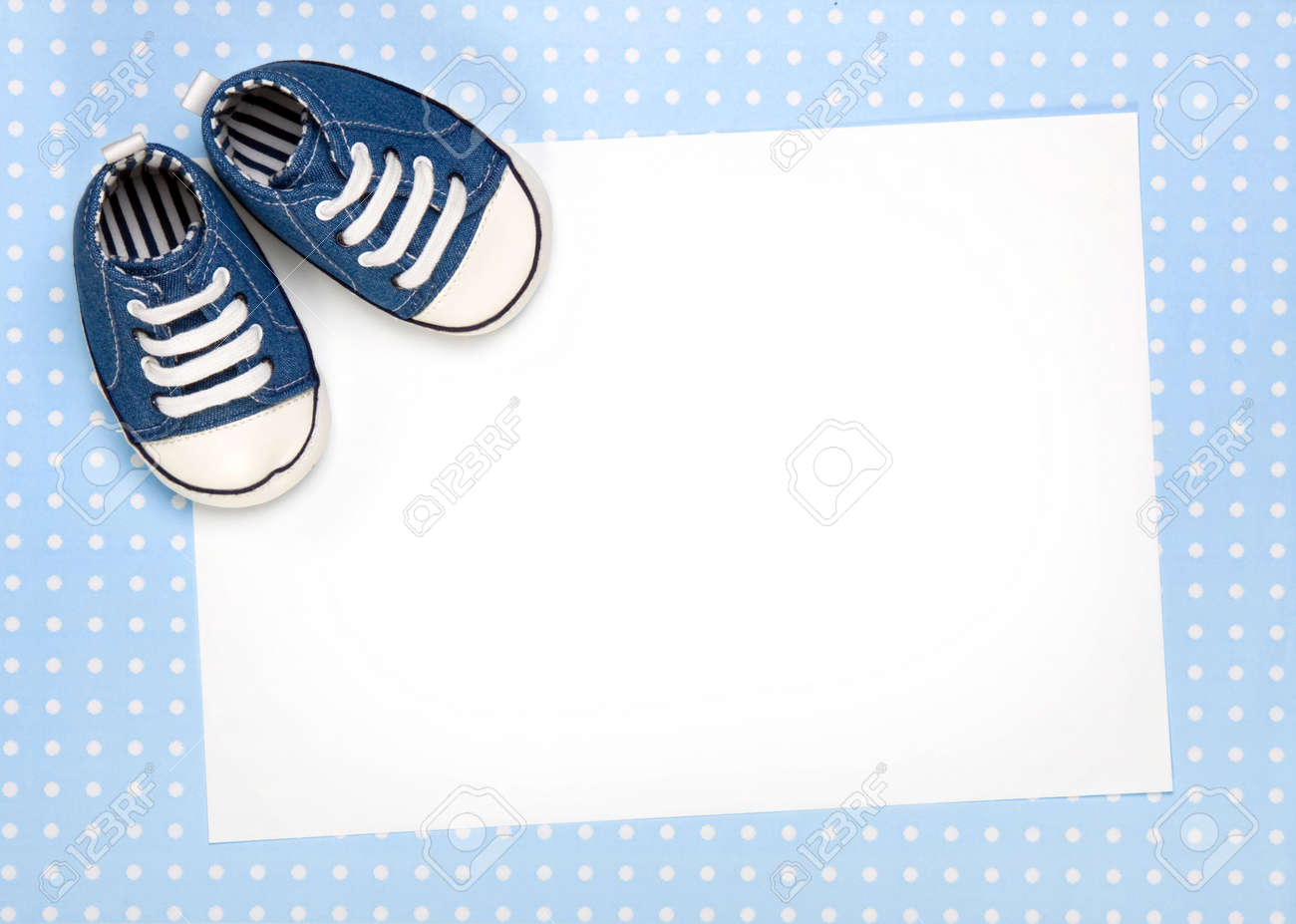 Blank Card For New Baby Or Party Invitation Stock Photo Picture And