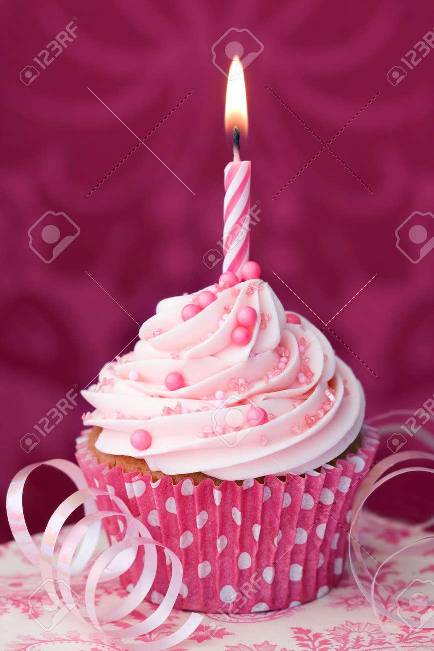 Birthday cupcake Stock Photo - 6843308