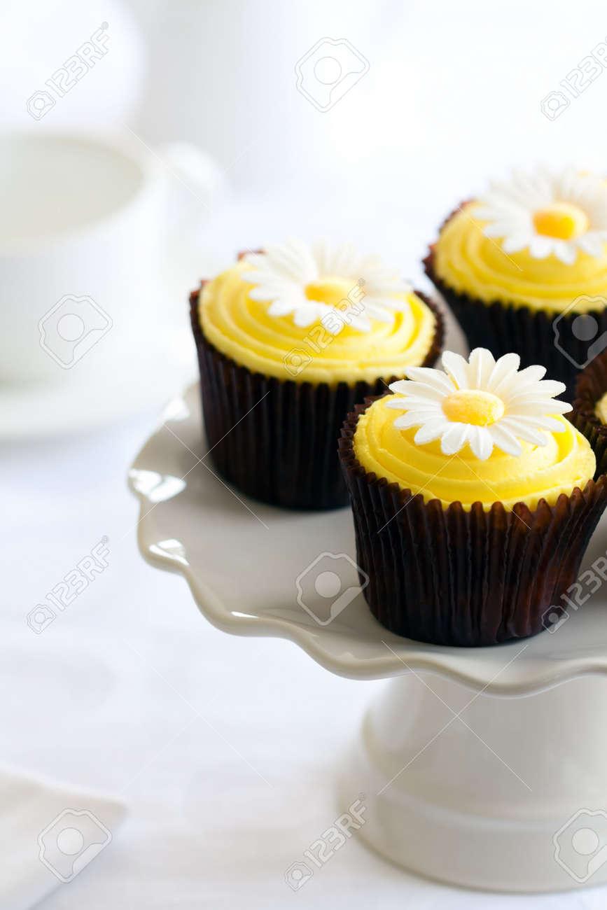 Yellow daisy cupcakes Stock Photo - 7948249