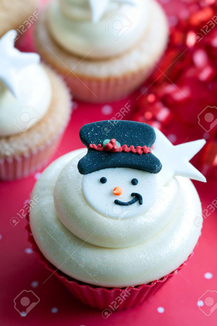 Christmas cupcake Stock Photo - 8134738