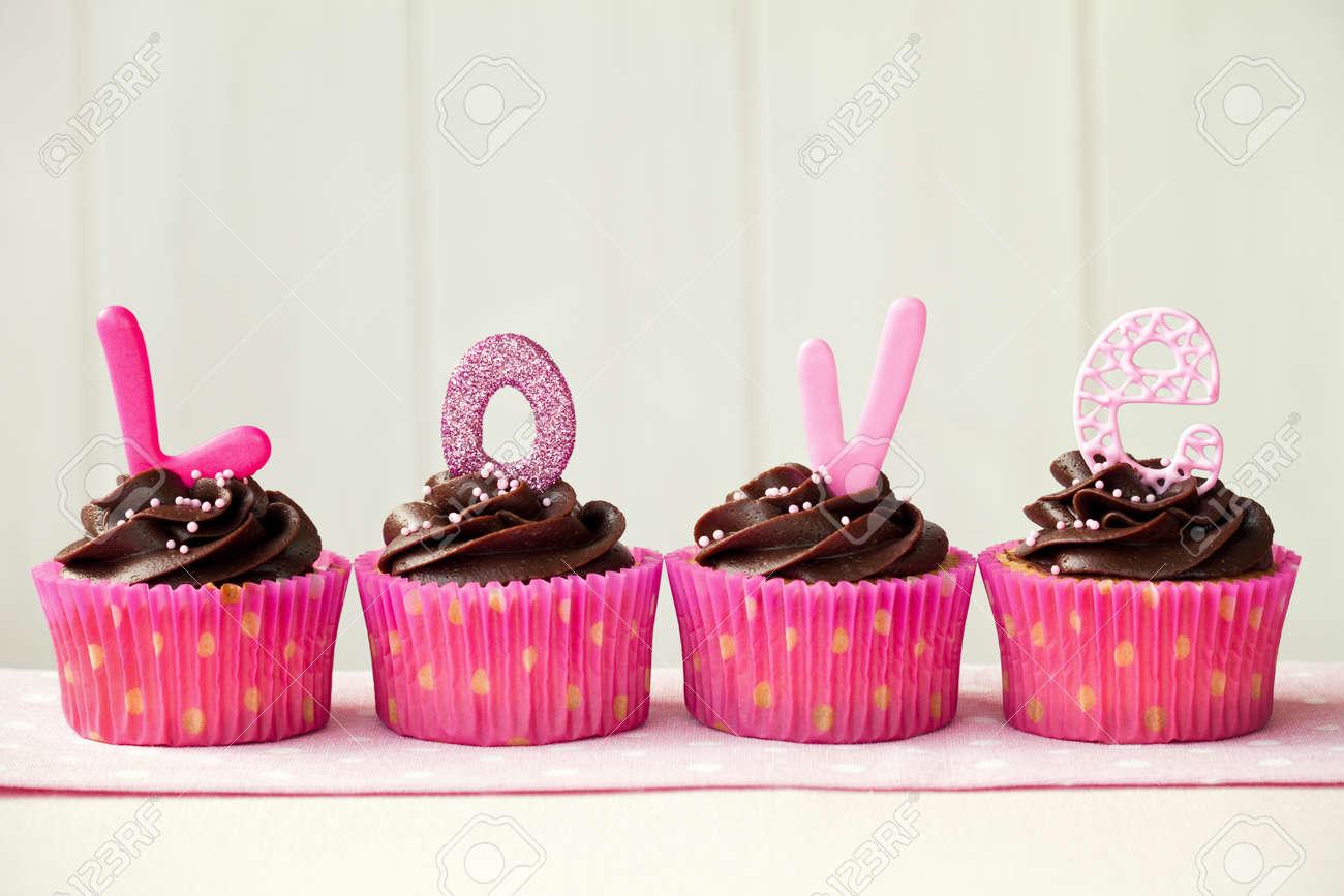 Valentine cupcakes Stock Photo - 11971923