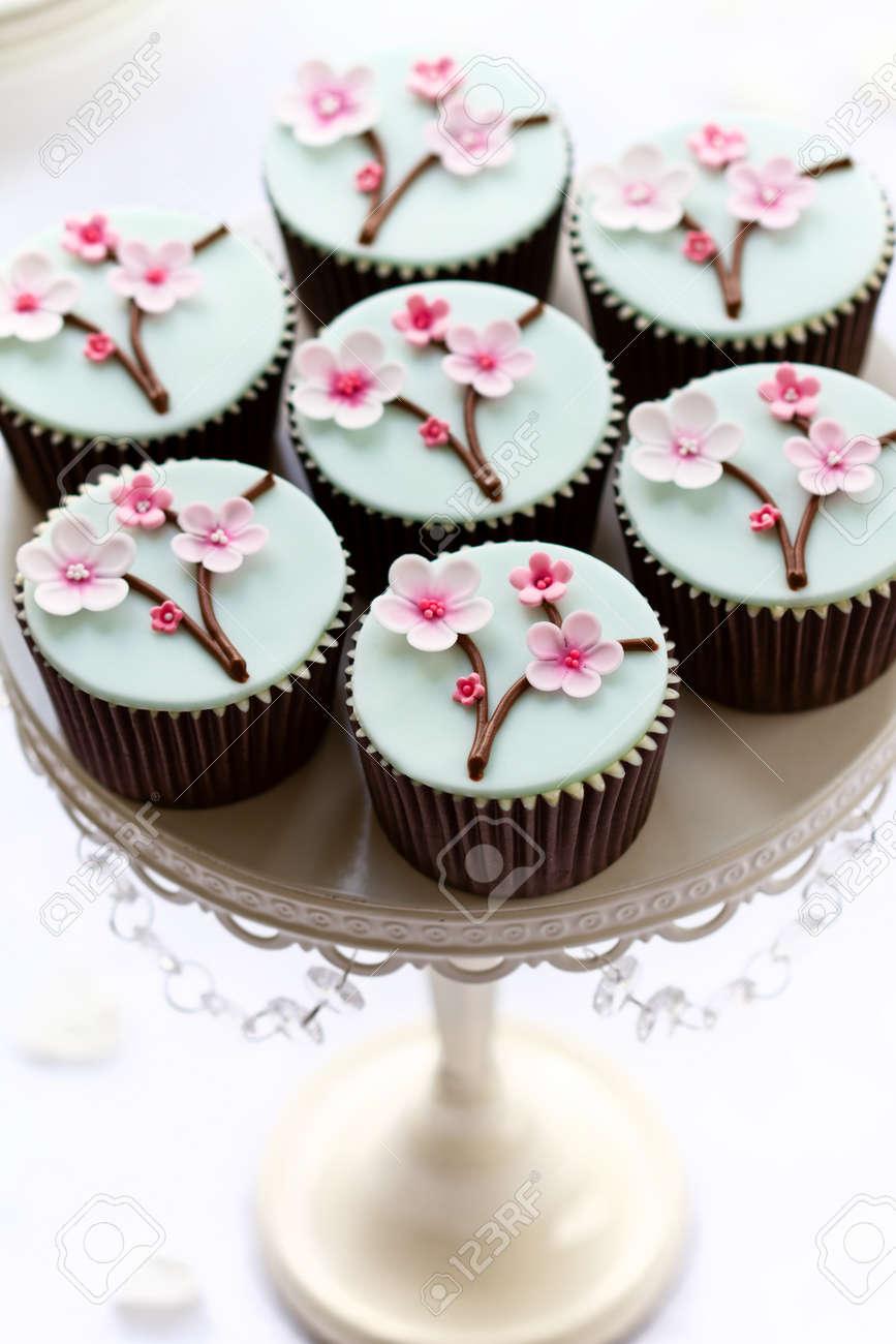 Cherry blossom cupcakes Stock Photo - 12550160