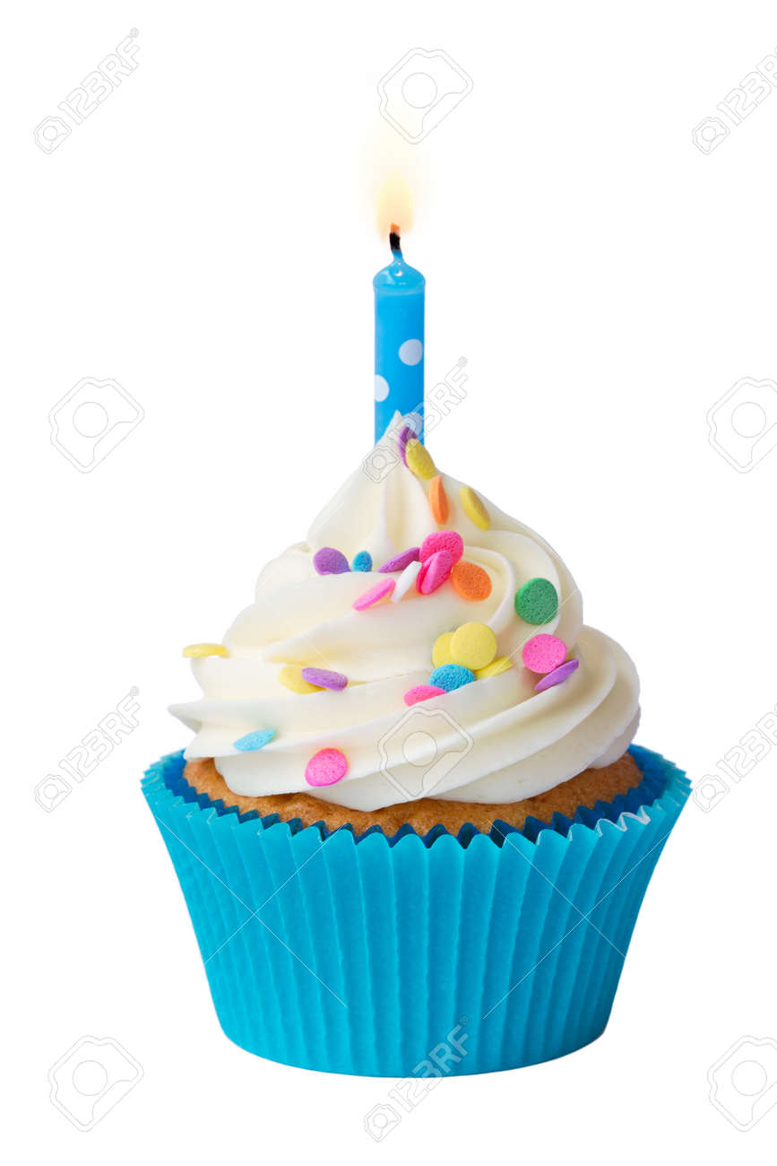 Pleasing Birthday Cupcake Stock Photo Picture And Royalty Free Image Personalised Birthday Cards Cominlily Jamesorg