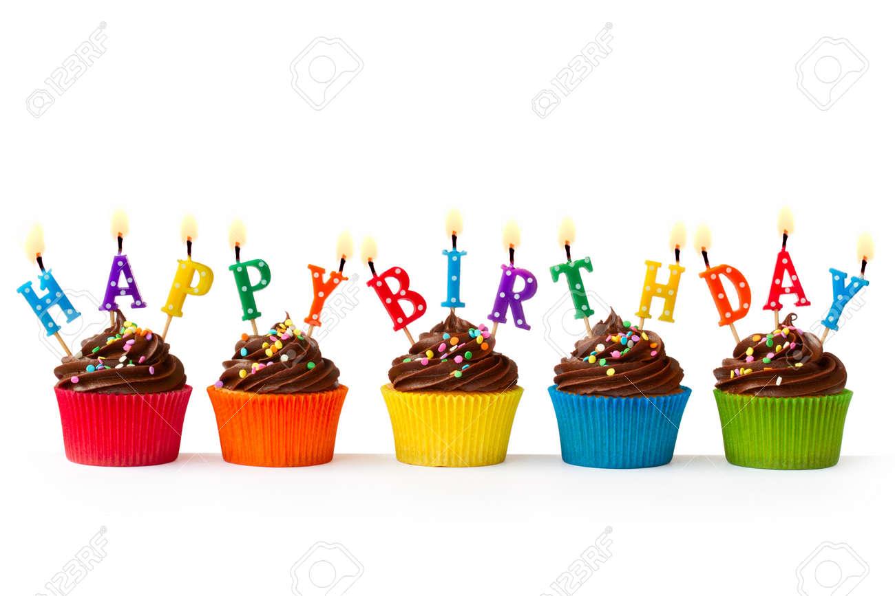 Birthday cupakes Stock Photo - 13673411