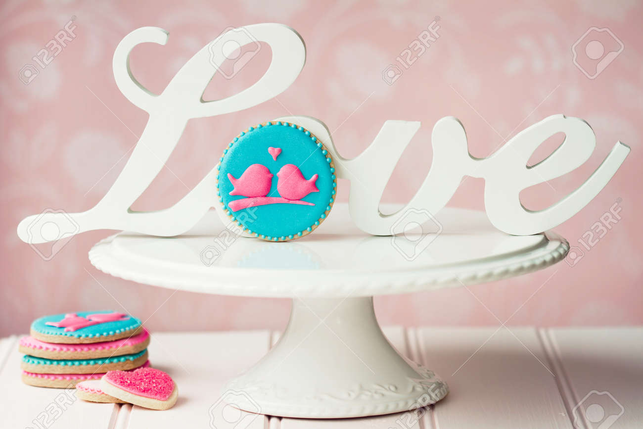 Lovebird cookies Stock Photo - 14894085