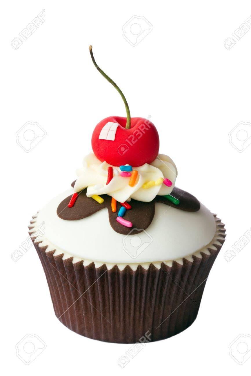 Cherry cupcake Stock Photo - 16400596