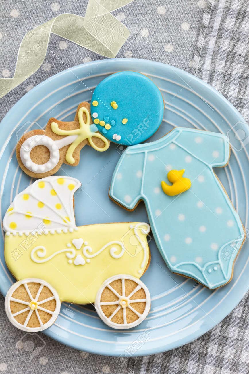 Baby Shower Cookies Stock Photo   16464313