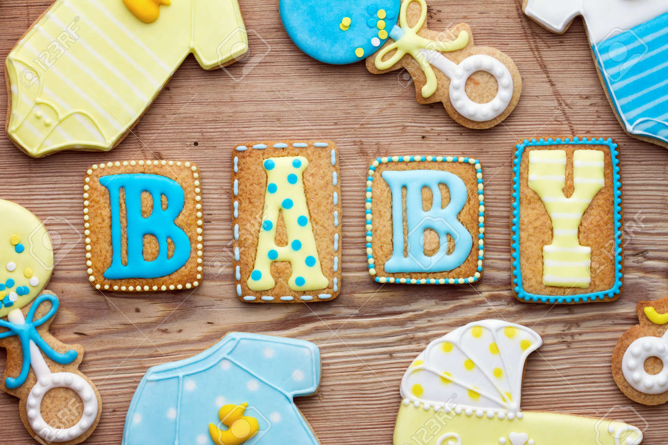 Baby shower cookies Stock Photo - 16885822