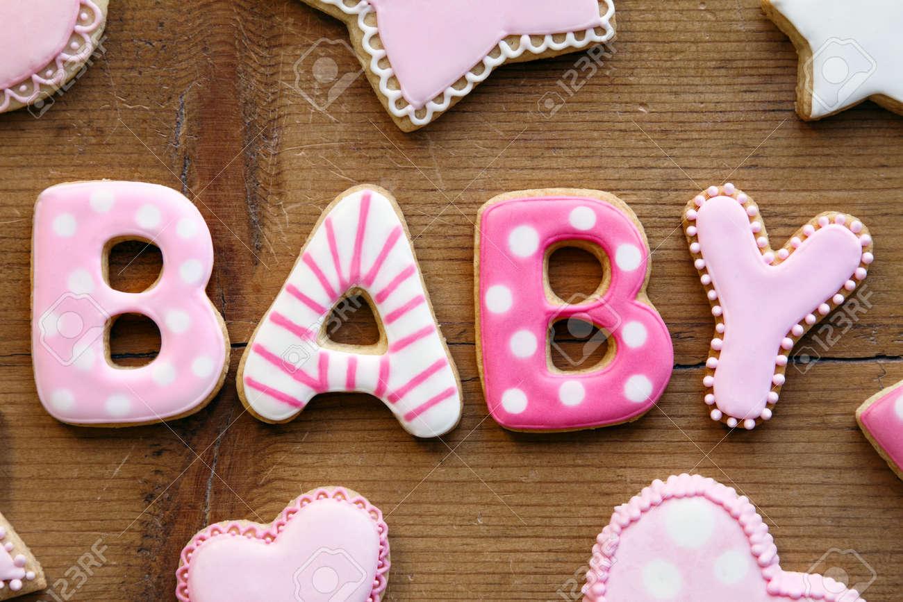 Baby shower cookies Stock Photo - 17280765