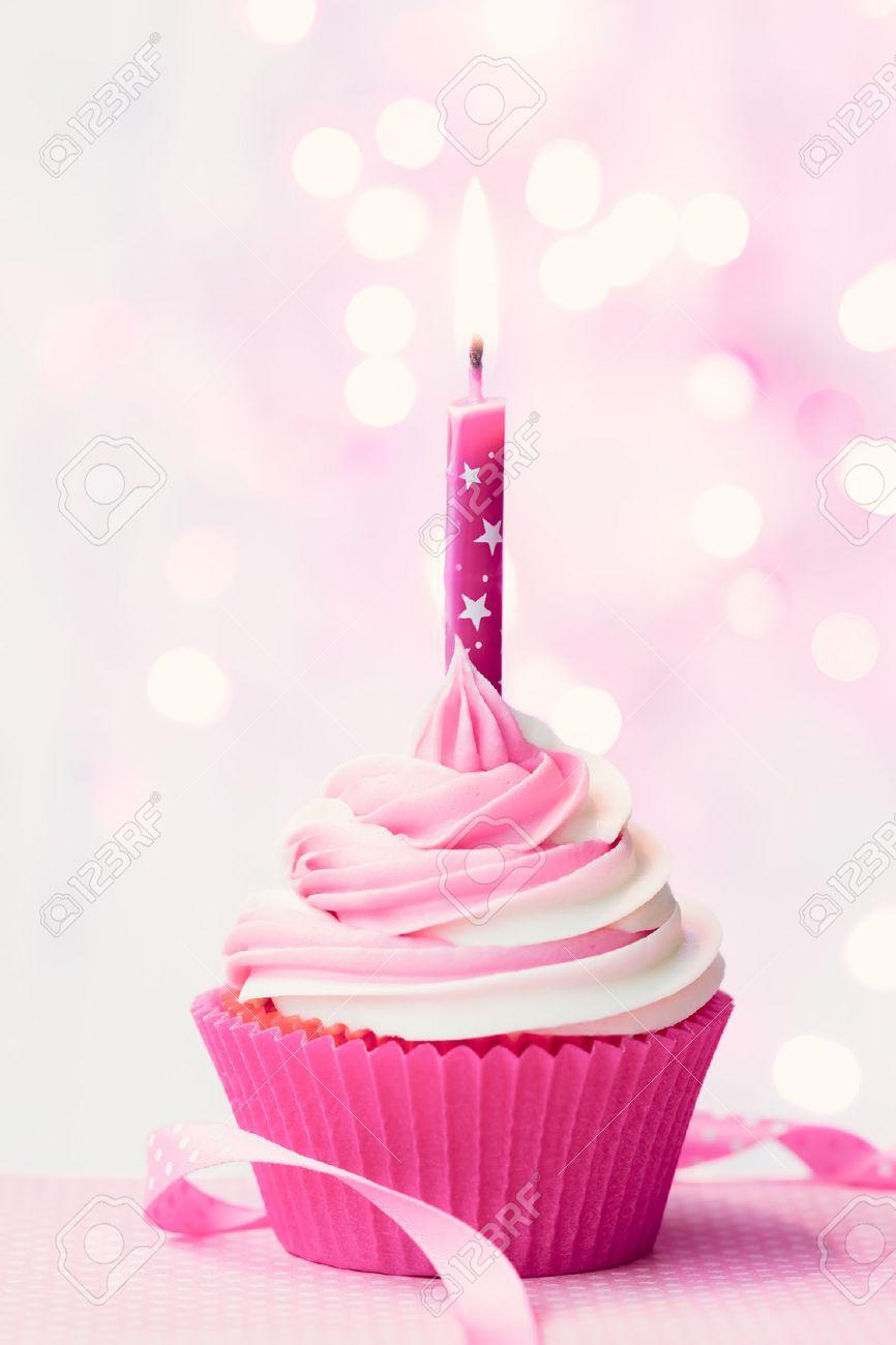Birthday Cake Pink Birthday Cupcake