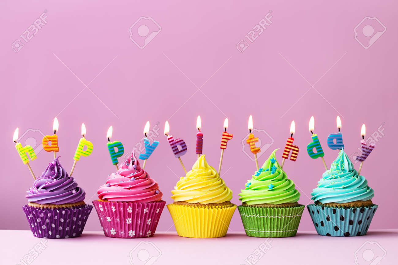 Happy Birthday Cupcakes Stock Photo Picture And Royalty Free Image