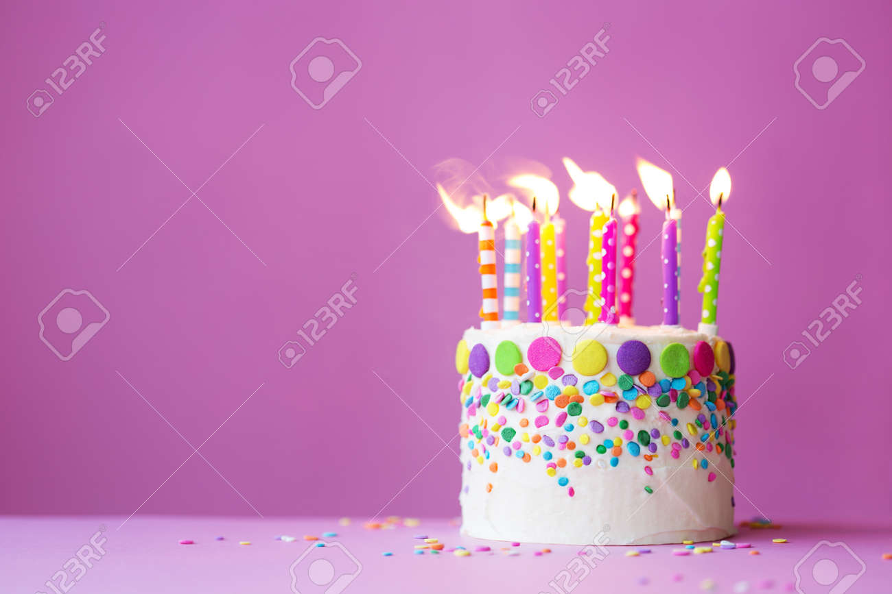Birthday Cake Candles Stock Photos Pictures Royalty Free