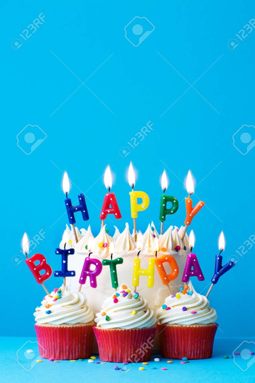 Birthday Cake With Happy Birthday Message Stock Photo Picture And Royalty Free Image Image 57841718