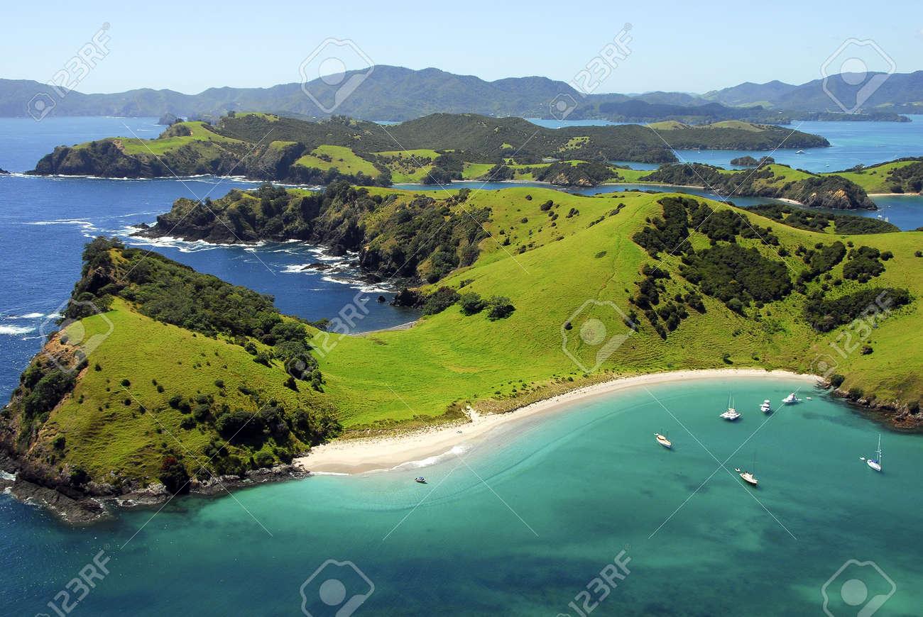 Waewaetorea Island - Aerial, Bay of Islands, Northland, New Zealand - 9921964