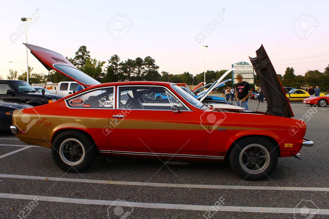 GLOUCESTER, VA, USA - OCTOBER 7: Vintage 1973 Chevrolet Vega ...