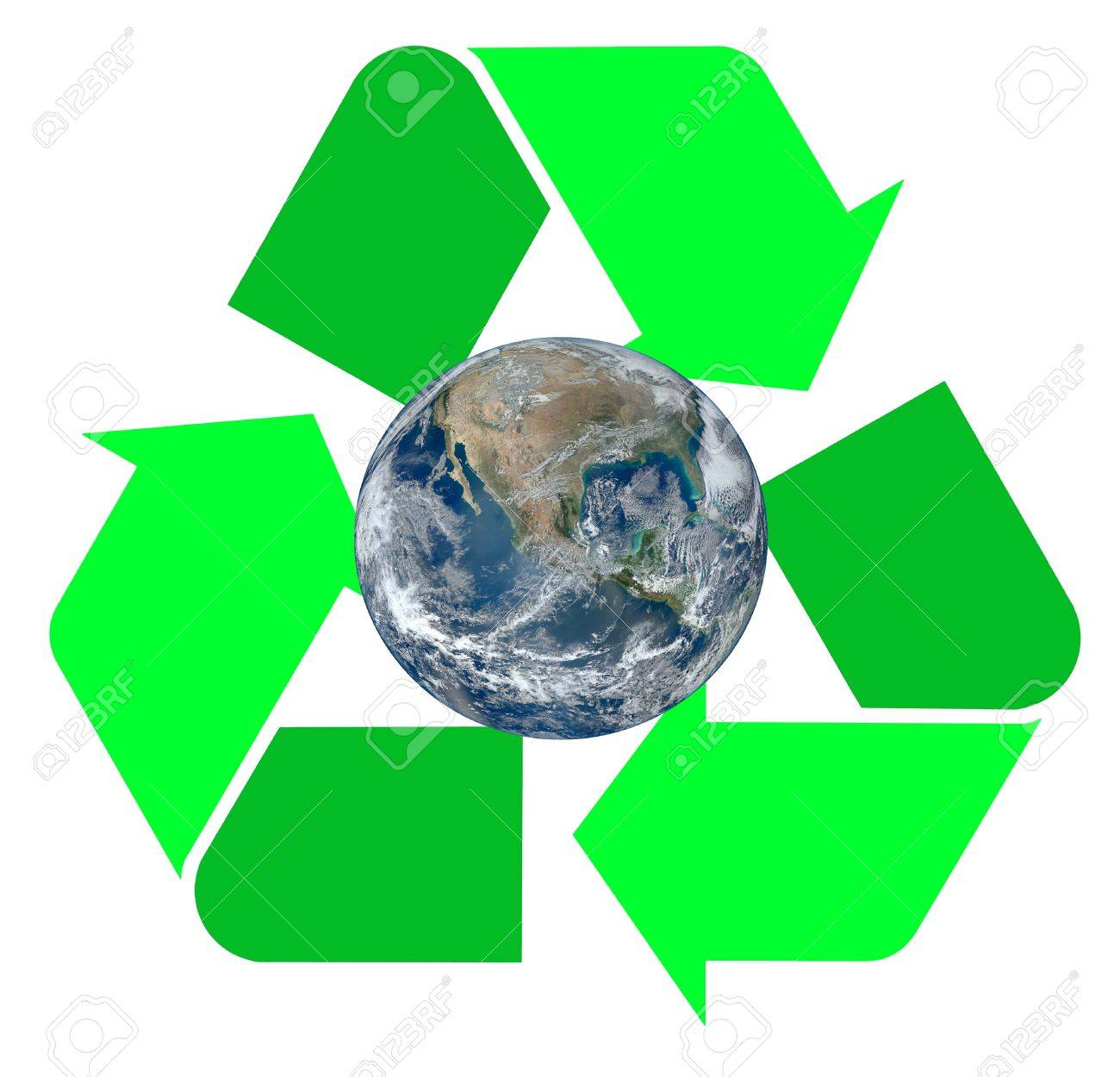Two tone green international recycle symbol illustration with two tone green international recycle symbol illustration with the earth inside of it isolated on biocorpaavc Gallery