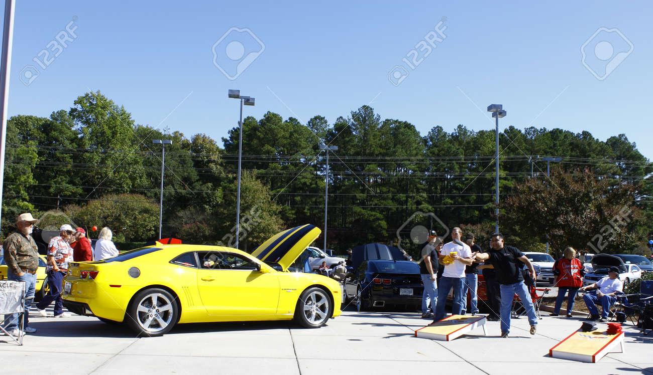 GLOUCESTER, VA- OCTOBER 13:Cornhole toss at the Ken Houtz Chevrolet Buick, Camaro VS Corvette Humane Society car show and food drive in Gloucester, Virginia on October 13, 2012 Stock Photo - 15744817