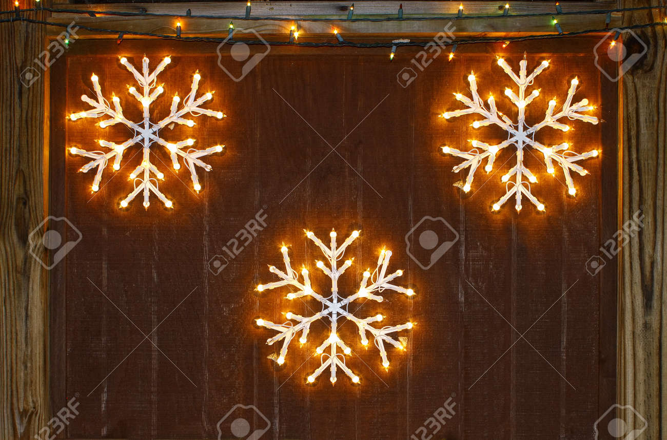 snowflake decorations hanging party package decor