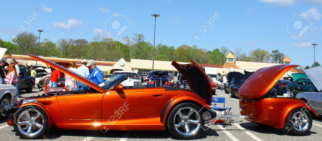GLOUCESTER VA APRIL A Prowler Trailer In The Daffodil Stock - Show car trailer