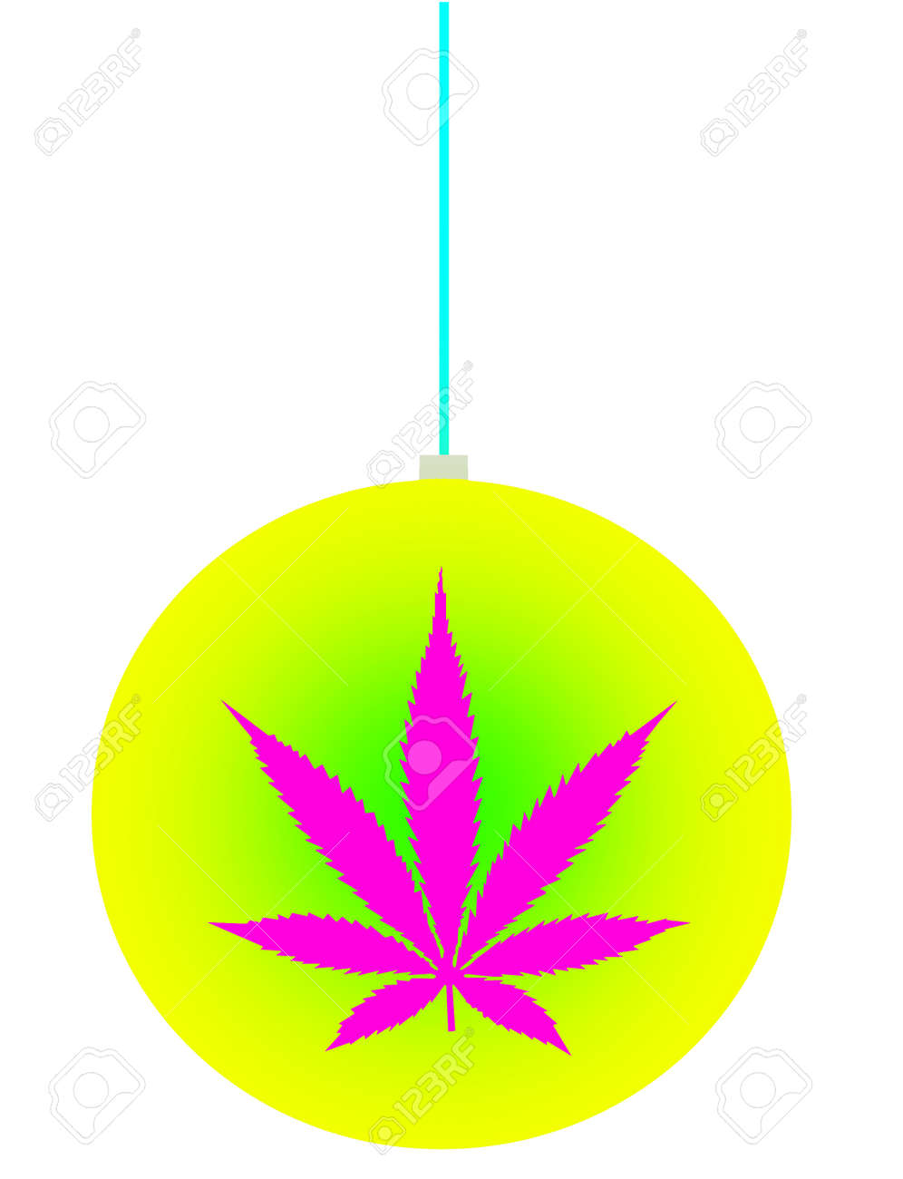 an isolated christmas ball ornament with a marijuana leaf icon stock photo picture and royalty free image image 33328703 123rf com