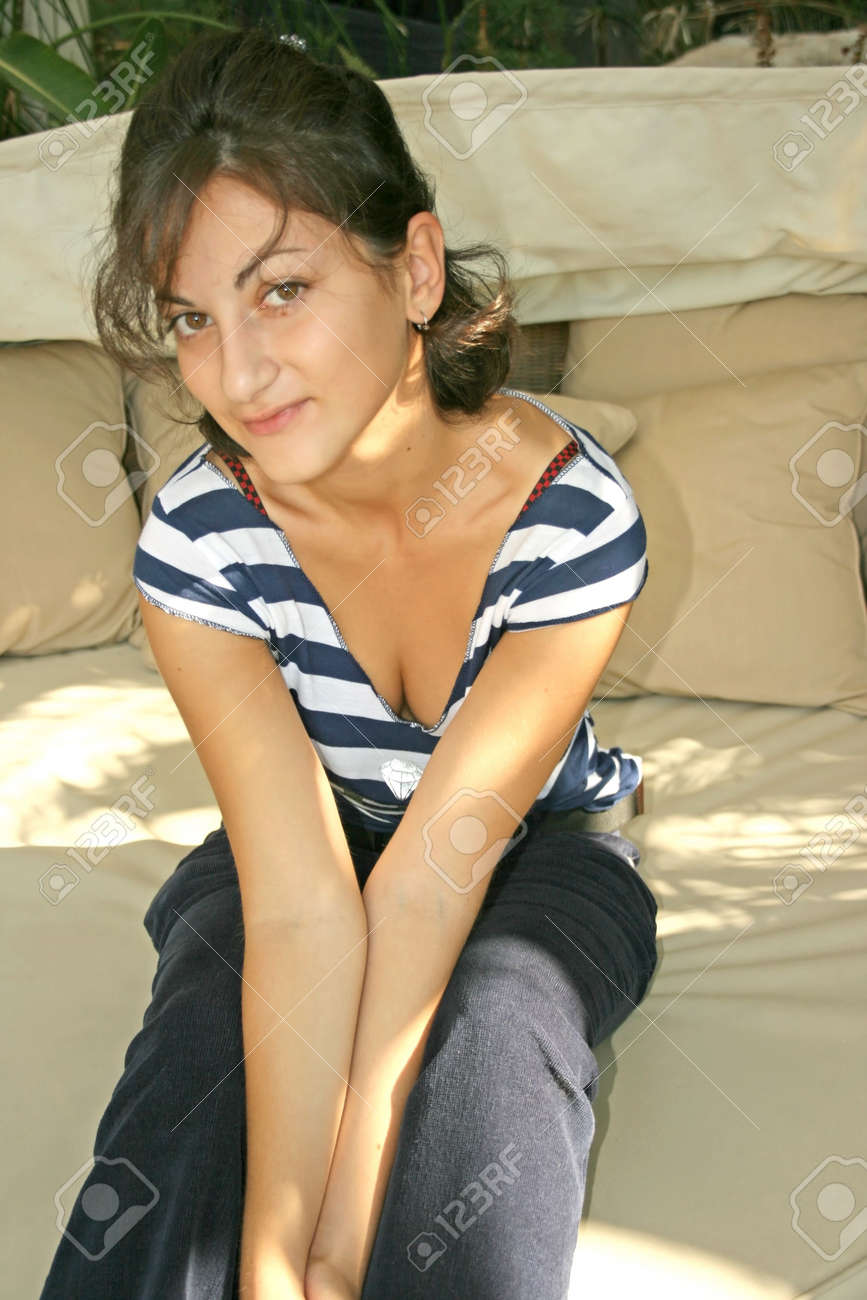 The girl on the sofa. Stock Photo - 2616044