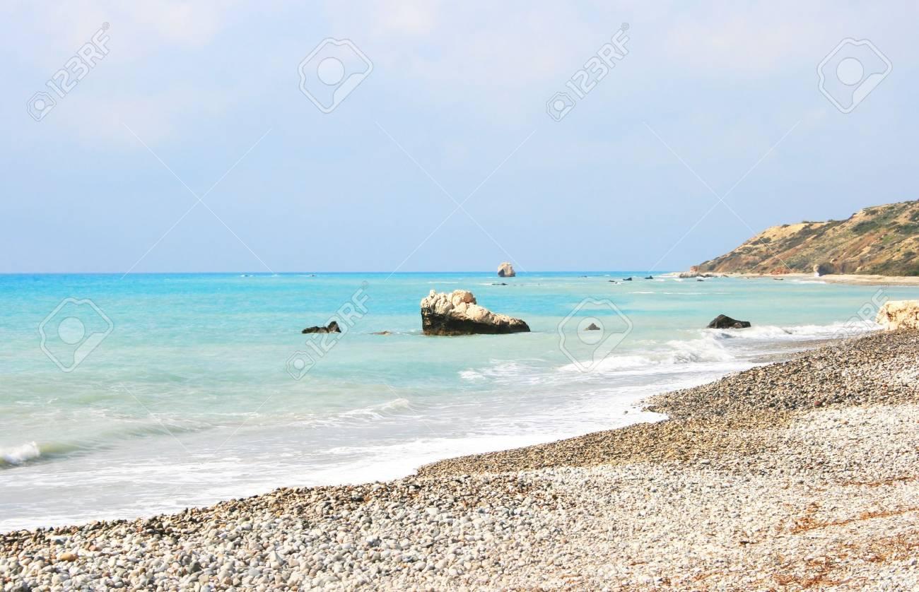 Petra tou Romiou, Aphrodite's legendary birthplace in Paphos, Cyprus. Stock Photo - 7493588