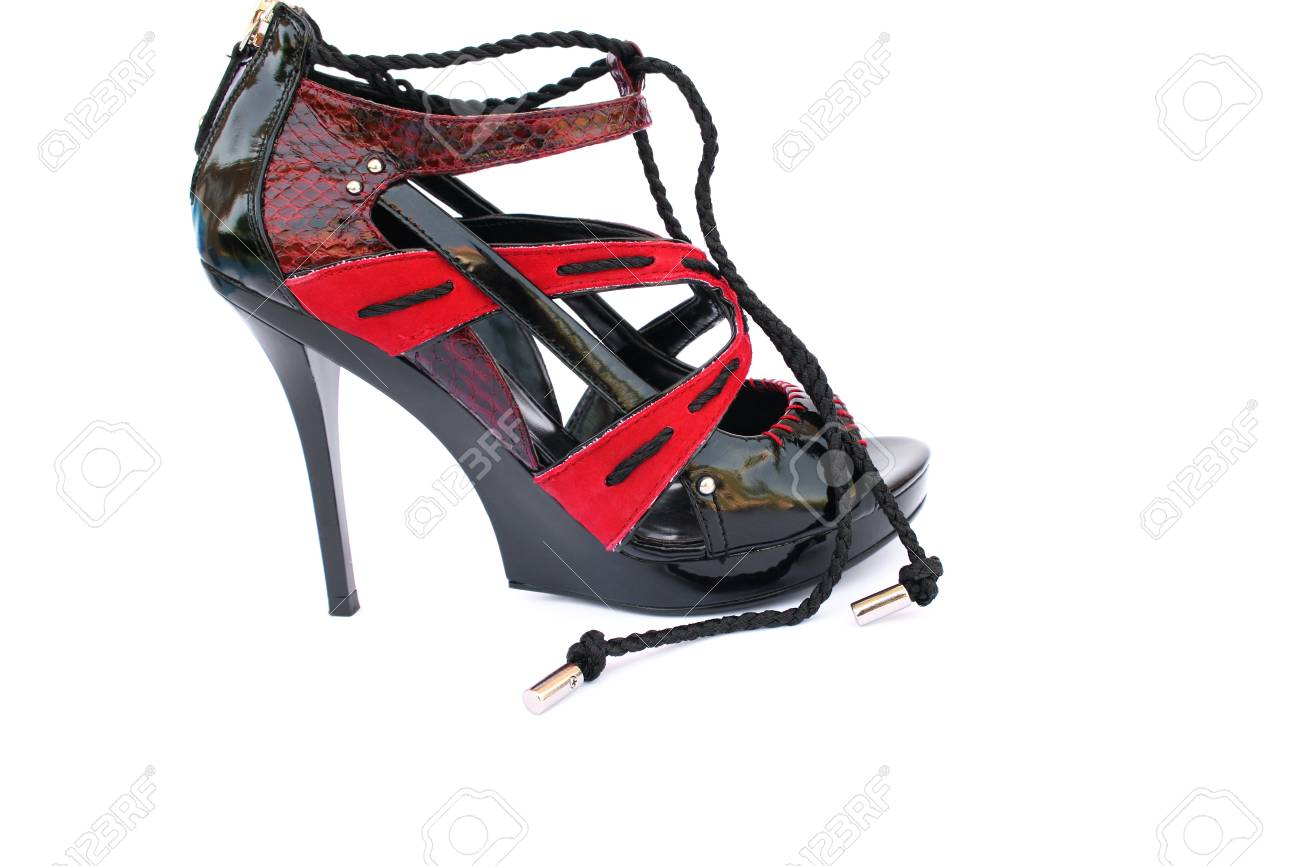 Womanish shoes isolated on white background. Stock Photo - 10717608
